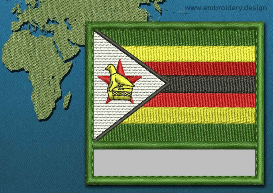 Zimbabwe Customizable Text Flag with a Colour Coded Border