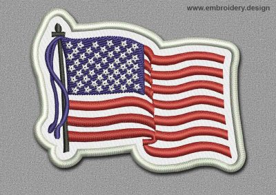 This Flags Patch USA design was digitized and embroidered by www.embroidery.design.