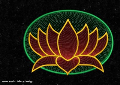 The embroidery design Floating lotus
