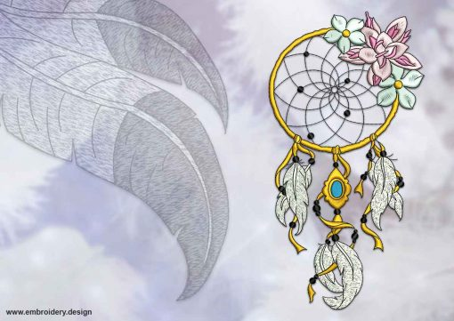 This Floral dreamcatcher