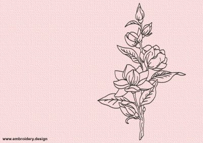 The embroidery design Floral tattoo is easy to embroider thanks to using only run stitching elements in digitization.