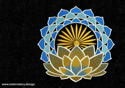 The embroidery design Flowering lotus