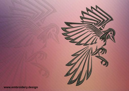 The embroidery design Flying raven