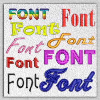 Qualitative embroidery designs Fonts