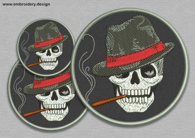 The embroidery design Gangster skull