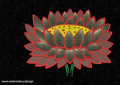 The embroidery design Gentle lotus