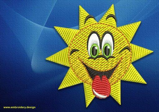 The embroidery design Glorious sun