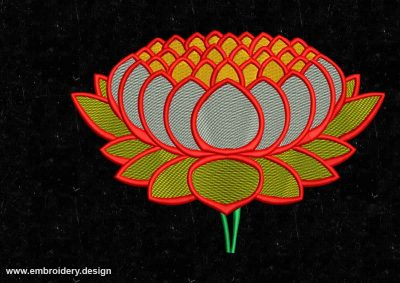 The embroidery design Glowing lotus