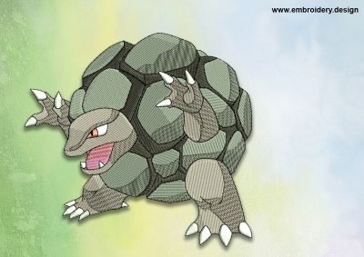 The embroidery design Golem Pokemon