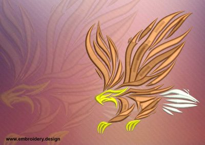 The embroidery design Great flying eagle