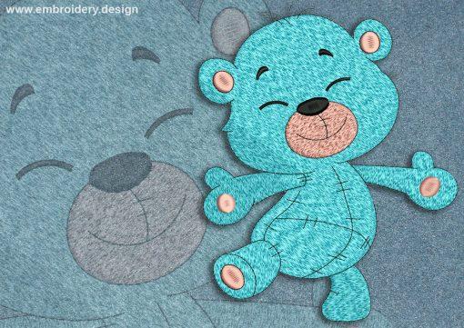 This Happy bear cub
