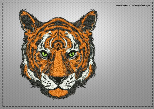 The embroidery design Honorable tiger