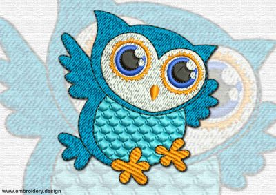 This Hunting owl design was digitized and embroidered by www.embroidery.design.