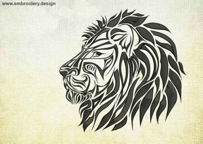 This Imperial Lion design was digitized and embroidered by www.embroidery.design.