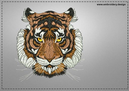 The embroidery design Influential tiger