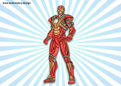 The embroidery design Iron man