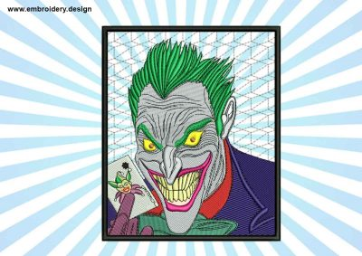 The embroidery design Joker in frame