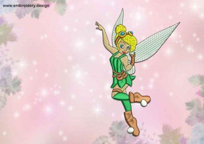 The qualitative embroidery design Joyful fairy
