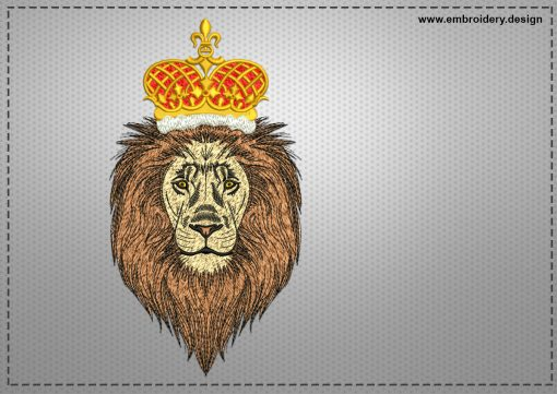The embroidery design King of beasts