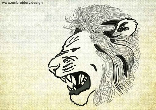 This Lion in rage