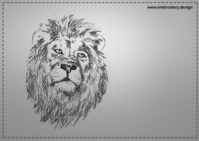 The embroidery design Lonely lion