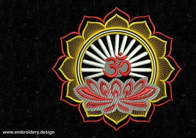The embroidery design Lotus for meditation