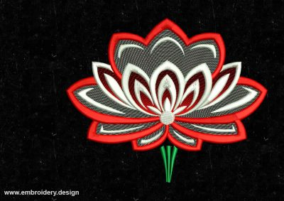 The embroidery design Lovely lotus