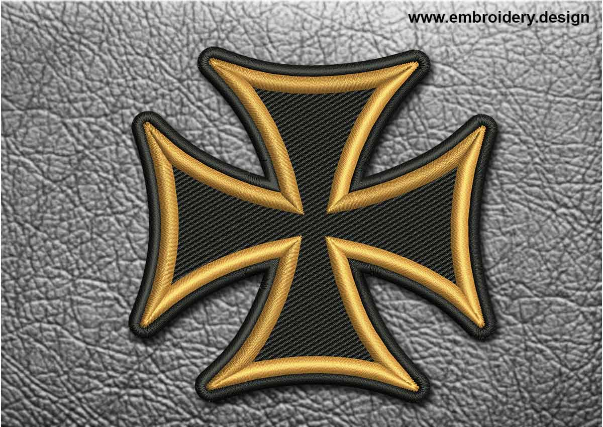 Biker patch black and yellow maltese cross this biker patch black and yellow maltese cross design was digitized and embroidered by biocorpaavc