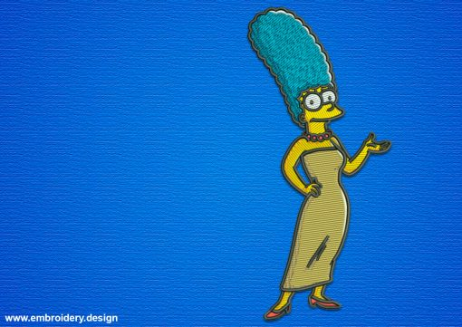 The embroidery design Marge Simpson is quite simple