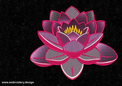 The embroidery design Marvelous lotus