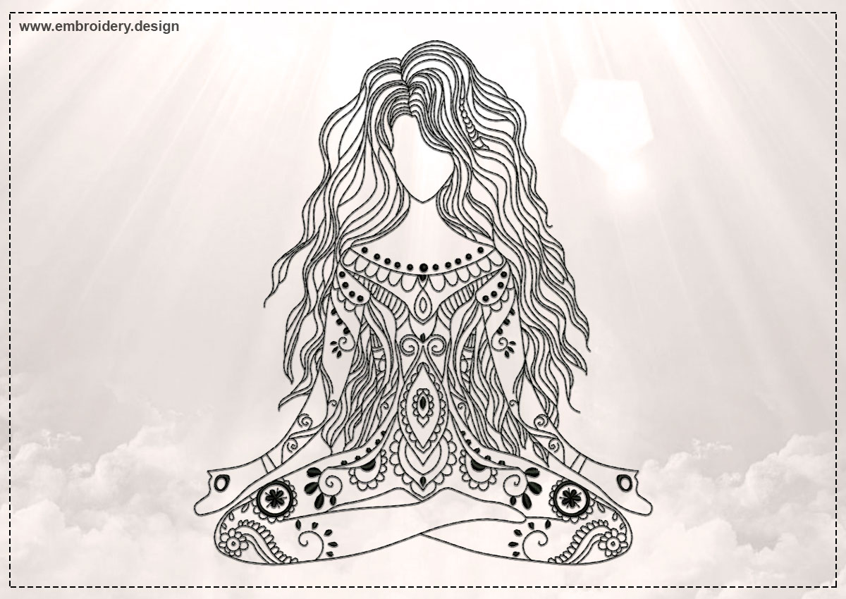 Yoga Embroidery Design Files for Download