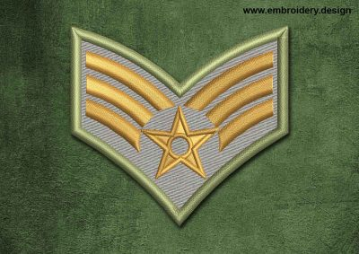 This Military, Security Patch Airman design was digitized and embroidered by www.embroidery.design.