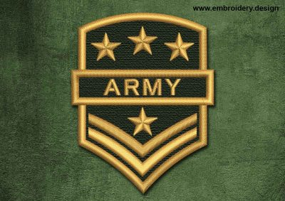 This Military, Security Patch Army design was digitized and embroidered by www.embroidery.design.