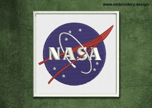 This Military, Security Patch NASA design was digitized and embroidered by www.embroidery.design.