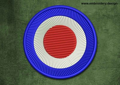 This Military, Security Patch Target design was digitized and embroidered by www.embroidery.design.