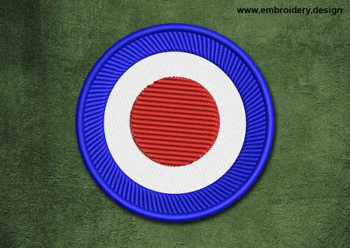 This Military, Security Patch Transparent Target design was digitized and embroidered by www.embroidery.design.