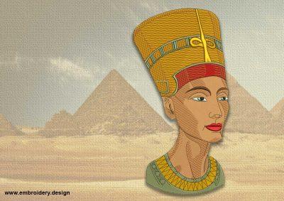 The embroidery design Nefertiti portrait