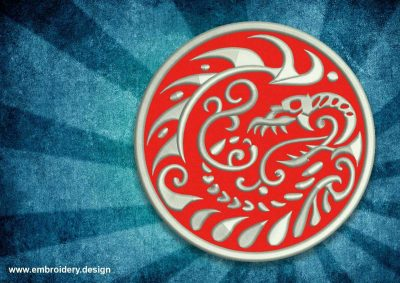 The embroidery design Patch dangerous dragon