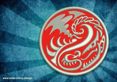 The embroidery design Patch deterrent dragon