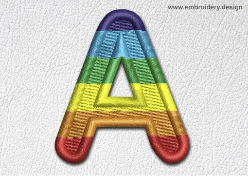 This Patch Rainbow Font English Letter A