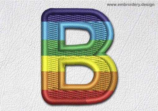 This Patch Rainbow Font English Letter B