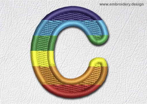 This Patch Rainbow Font English Letter C