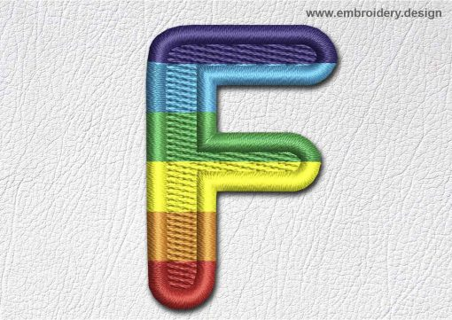 This Patch Rainbow Font English Letter F