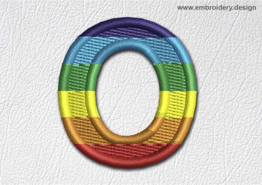 This Patch Rainbow Font English Letter O