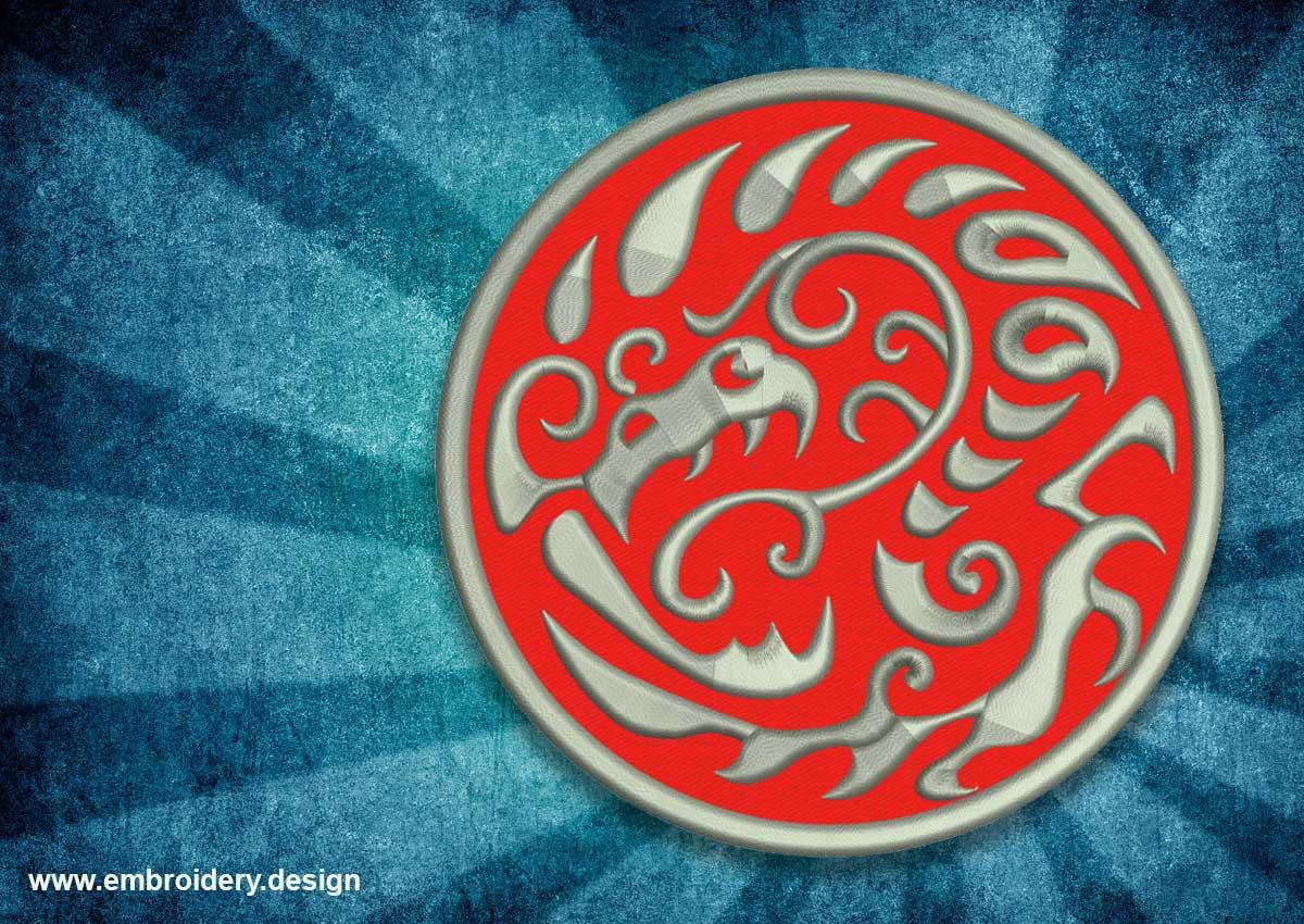 Patch tattoo serpentine dragon
