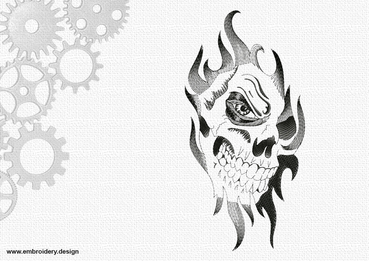 Pictured skull