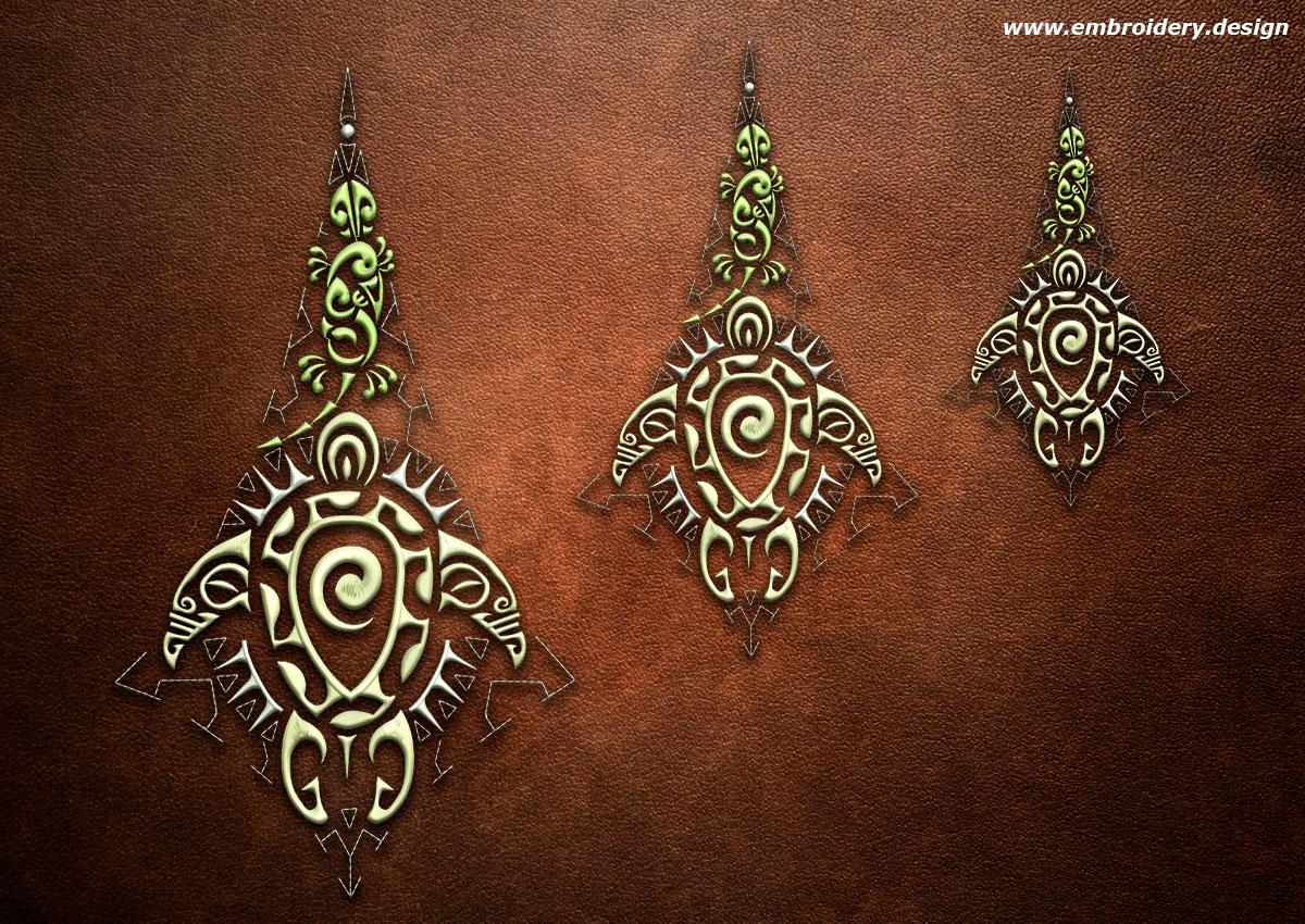 design embroidery polynesian tattoo maramatanga by. Black Bedroom Furniture Sets. Home Design Ideas