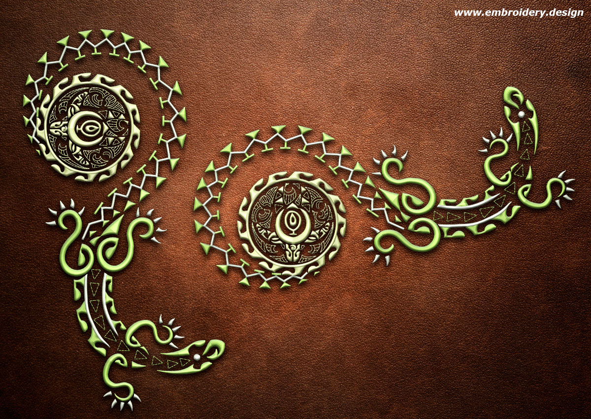 design embroidery polynesian tattoo moko by. Black Bedroom Furniture Sets. Home Design Ideas