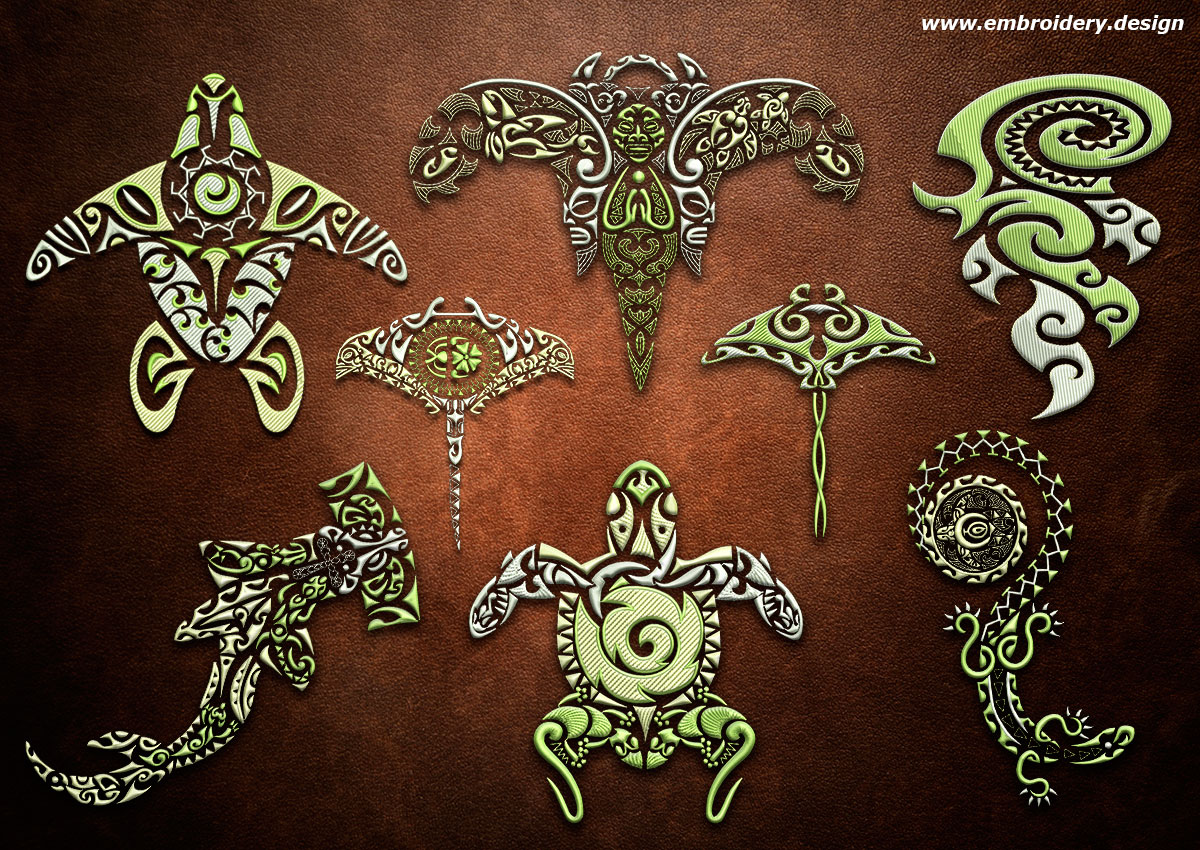 design embroidery polynesian tattoo pack 1 by. Black Bedroom Furniture Sets. Home Design Ideas