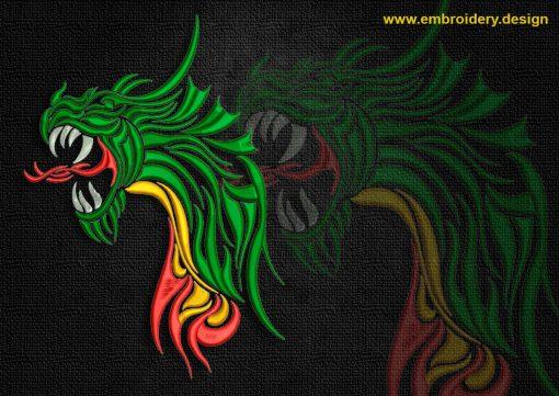 This Portrait of celtic dragon